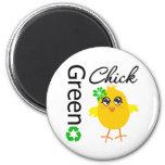 Green Chick Refrigerator Magnets