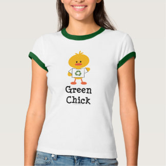 Green Chick Ringer T-shirt