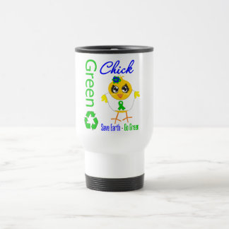 Green Chick Save Earth Go Green Mugs
