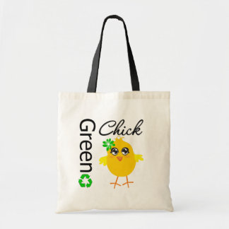 Green Chick Tote Bag