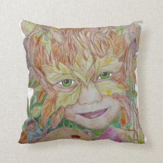 Green child son of Green Man and Green woman Pillows