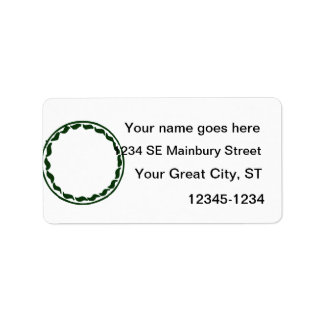 Green chili circle design custom address labels