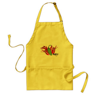 Green Chili Pepper Design Adult Apron