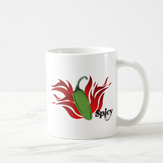 Green Chili Pepper Design Coffee Mug