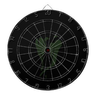 Green chili pepper two dancing abstract dartboard with darts