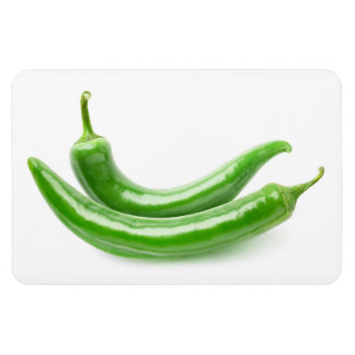 Green chili peppers magnet