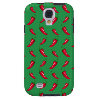 green chili peppers pattern galaxy s4 case