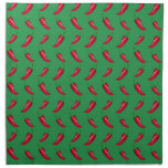 green chili peppers pattern cloth napkin