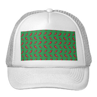 green chili peppers pattern trucker hat