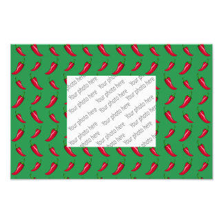 green chili peppers pattern photograph