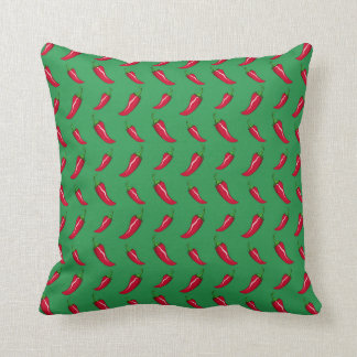 green chili peppers pattern throw pillows