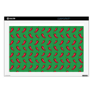"green chili peppers pattern skin for 17"" laptop"