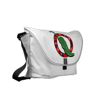Green Chili Red Ring Graphic Image.png Courier Bags