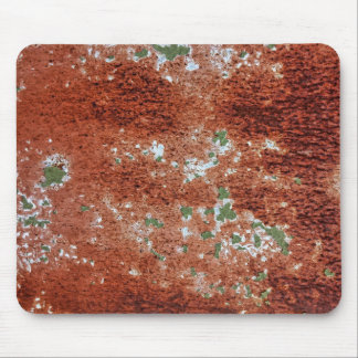 Green Chipping Paint Rusted Metal Pattern 2 Mouse Pad