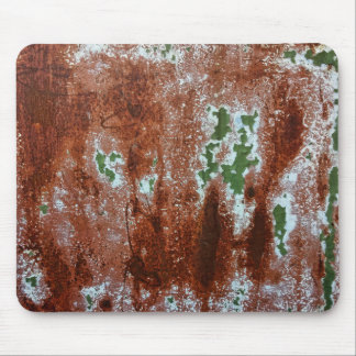 Green Chipping Paint Rusted Metal Pattern 3 Mouse Pad