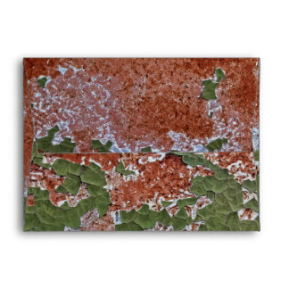 Green Chipping Paint Rusted Metal Pattern Envelope