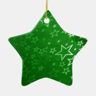 Green Christmas background design Ceramic Ornament