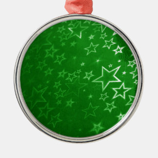 Green Christmas background design Metal Ornament