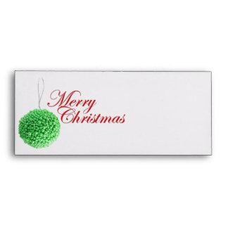 Green Christmas Ball Envelope