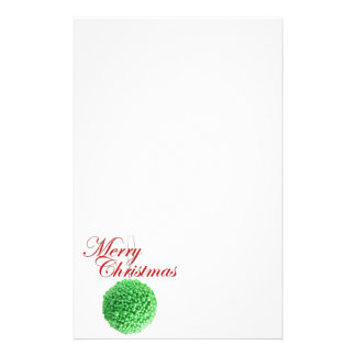 Green Christmas Ball Stationery