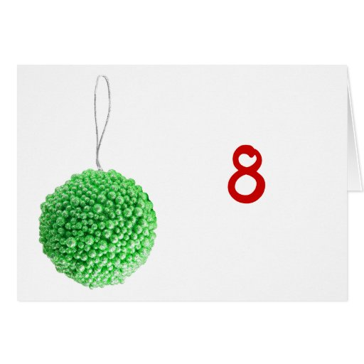 Green Christmas Ball Table Tent Template Card | Zazzle: www.zazzle.com/green_christmas_ball_table_tent_template_card...