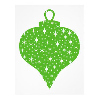 Green Christmas Bauble Design Full Color Flyer
