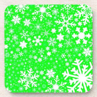 Green Christmas Blast Drink Coaster
