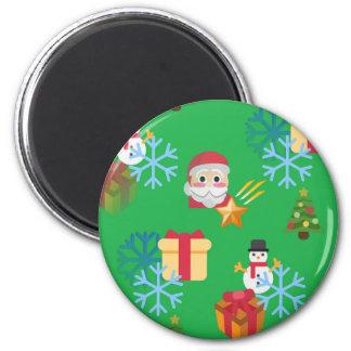 green christmas emoji magnet