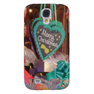green Christmas heart Samsung Galaxy S4 Cover