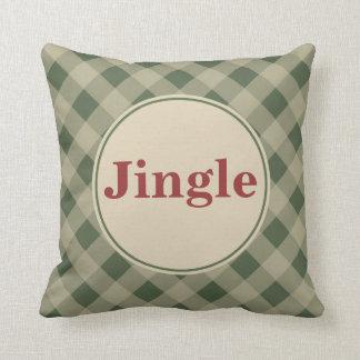 Green Christmas Jingle Pillow