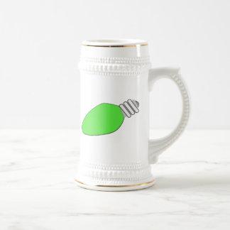 Green Christmas Light Bulb Mug