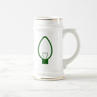 Green Christmas Light Bulb Coffee Mugs