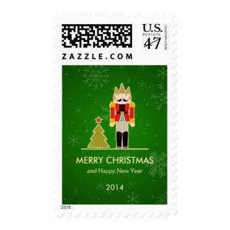 Green Christmas - Nutcracker Holiday Greeting Postage