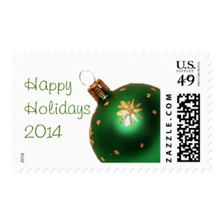Green Christmas Ornament Happy Holiday  Stamps