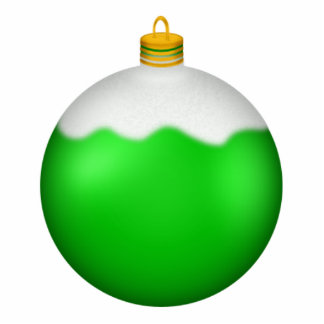 Green Christmas Ornament Photo Sculpture