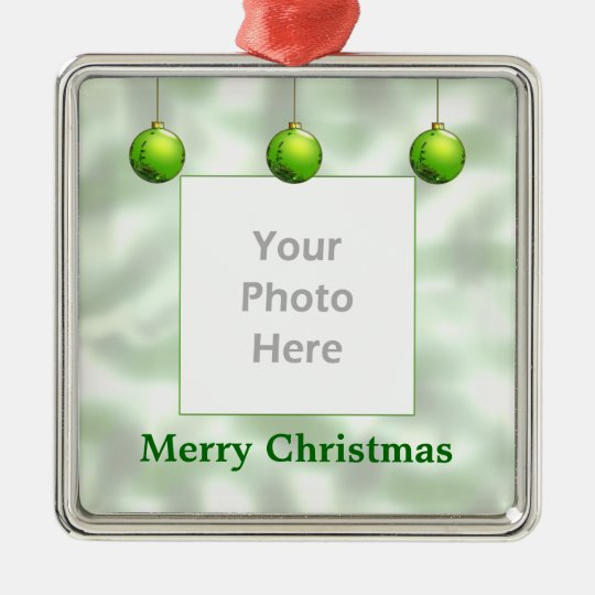 Green Christmas Ornaments (photo frame)