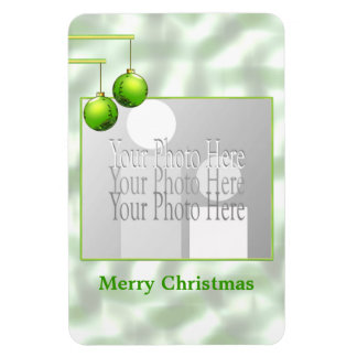 Green Christmas Ornaments (photo frame) Magnet