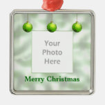 Green Christmas Ornaments (photo frame) Ornament