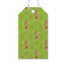 Green Christmas Owls & Trees Gift Tags