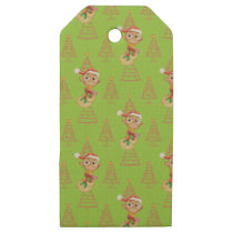 Green Christmas Owls & Trees Wooden Gift Tags