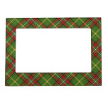 Green Christmas Plaid Magnetic Frame