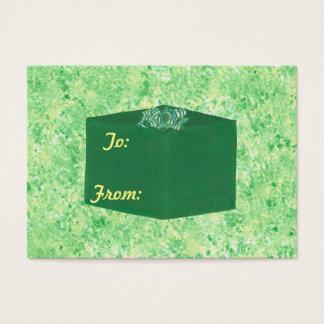 Green Christmas Present Gift Tags