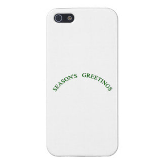 Green Christmas Seasons Greetings Cases For iPhone 5