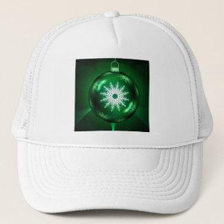 Green Christmas Snowflake Hat