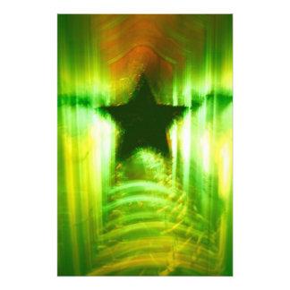 Green Christmas star Photo Print