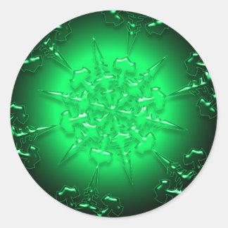 Green Christmas Sticker
