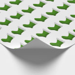[ Thumbnail: Green Christmas Stockings Wrapping Paper ]