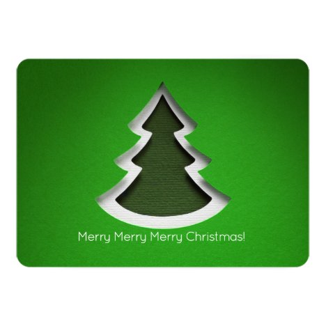 Green Christmas Tree, 2-sided Photo Card
