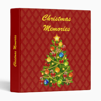 Green Christmas Tree 3 Ring Binder