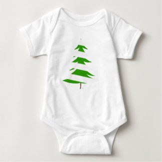 Green Christmas Tree Baby Bodysuit